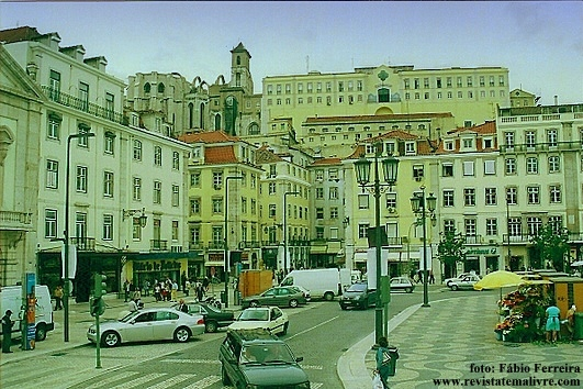 Vista parcial do Rossio.