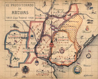 Mapa do Protetorado de Artigas